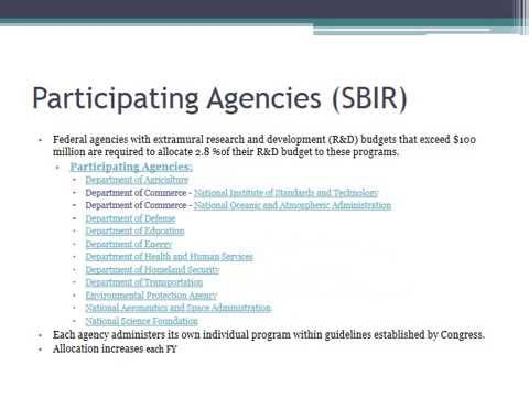 Small Business Innovative Research (SBIR) Overview Video