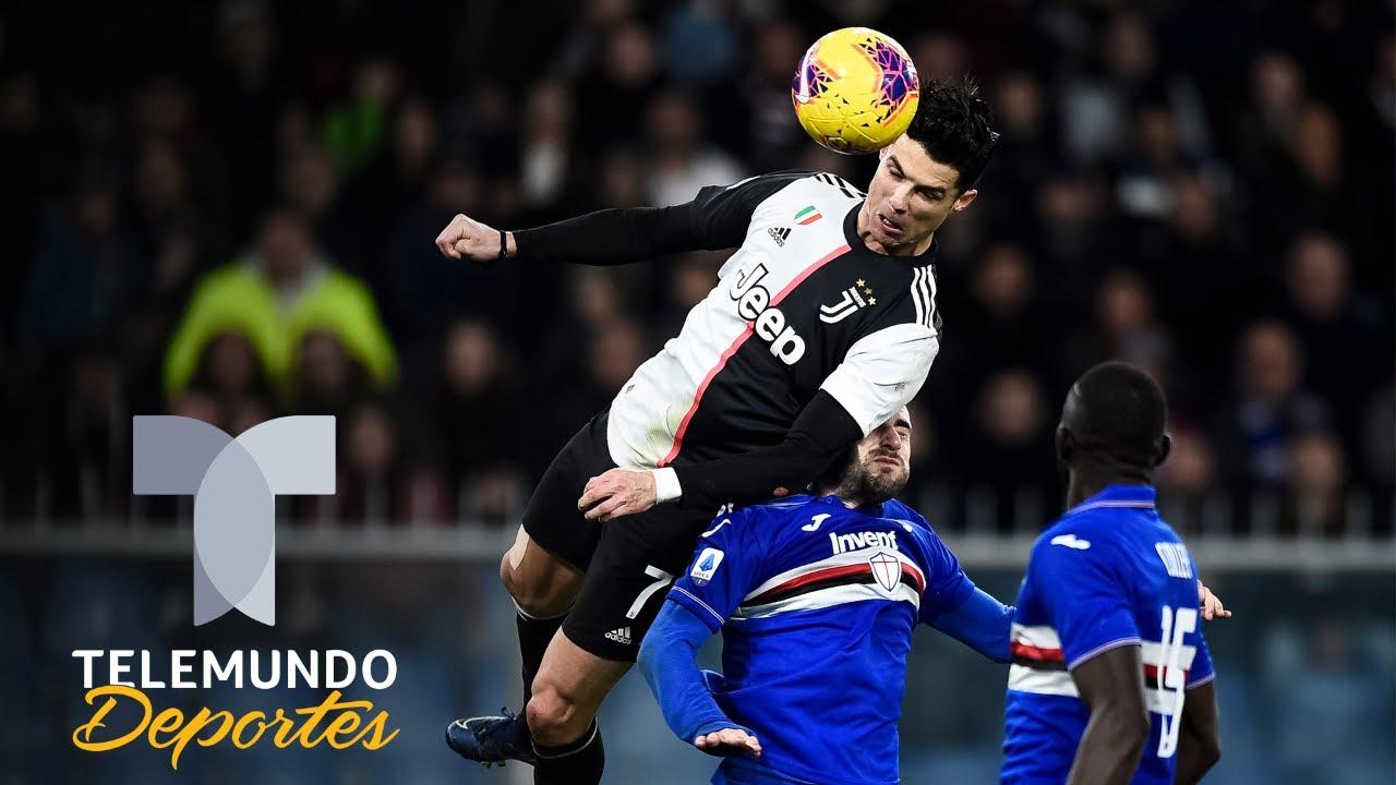 El impresionante vuelo de Cristiano Ronaldo con la Juventus | Telemundo Deportes