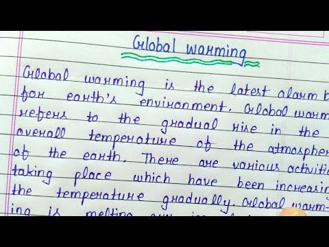 Write an essay on global warming || English