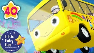 Wheels On The Bus Go Underwater | +More Nursery Rhymes & Kids Songs | Baby Songs | Little Baby Bum