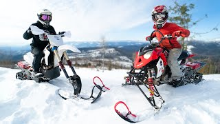 Snow Quad VS Snow Bike! Idaho Mountains Full Send!
