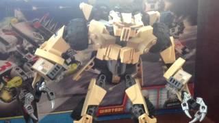 lego Transformers Custom Bonecrusher  Story (Review)  Лего Боункрашер (обзор) Самоделка