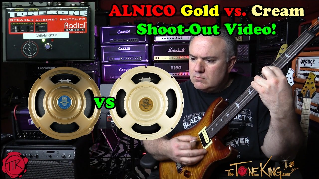 celestion alnico cream vs alnico gold shoot out youtube. Black Bedroom Furniture Sets. Home Design Ideas