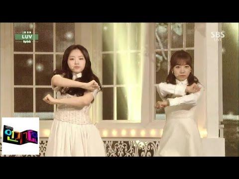 [에이핑크(A-pink)]LUV (러브) @인기가요 Inkigayo 141214