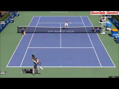 Juan Martin Del Potro vs Jack Sock | if Stockholm 2016 Final | Tennis Elbow 2013 PC HD