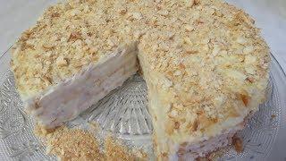 Торт НАПОЛЕОН БЕЗ выпечки за 15 МИНУТ. Супер Простой и Вкусный Рецепт.