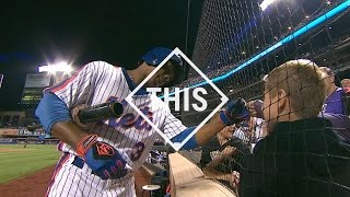 #THIS: Granderson gives a young fan a fist bump