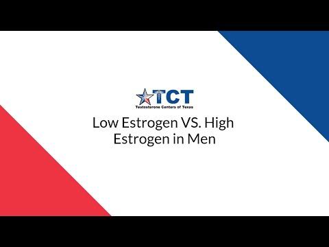 Low Estrogen vs. High Estrogen in Men