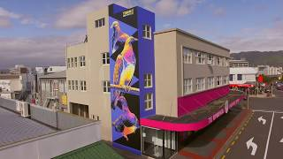 The creation of two Lower Hutt murals - Tūmanako and Everything
