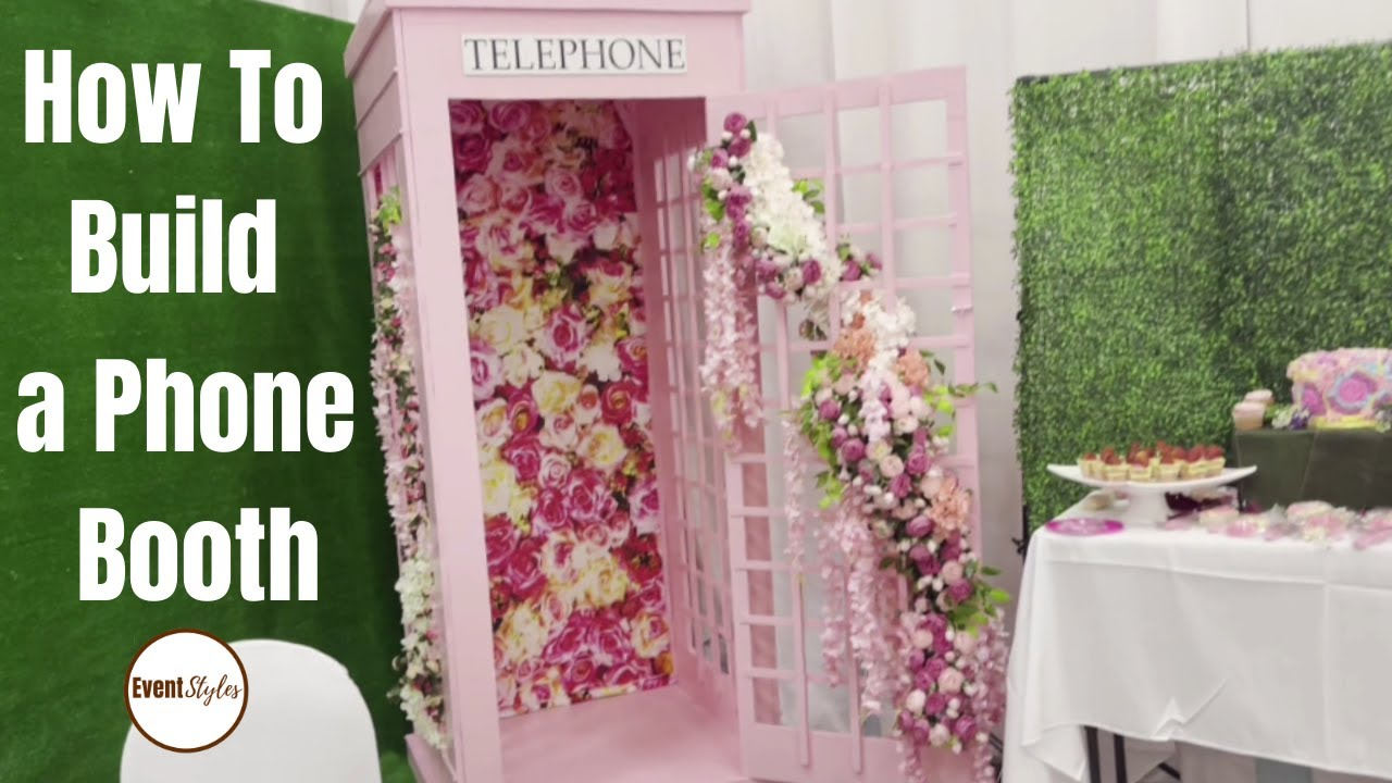 #Shorts DIY: HOW TO MAKE A TELEPHONE BOOTH - Creative Backdrop Ideas #backdrop #phonebooth