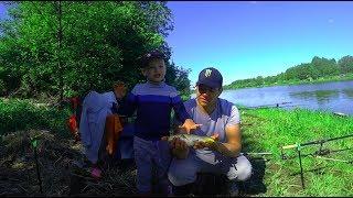 Рыбалка с Сыном/ Отличный день/ Летающие черви!