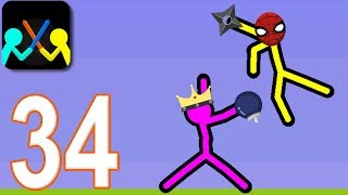 SUPREME DUELIST STICKMAN - Walkthrough Gameplay Part 34 (New Version Android Game)