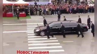 """Кортеж Ким Чен Ына во Вьетнаме, 2 броневика и """"бегущие охранники"""""""