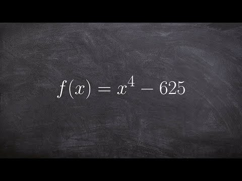 Find All The Zeros By Factoring A Polynomial To The 4th Power