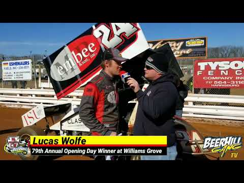 1st Place  Williams Grove  Opening Day  Lucas Wolfe