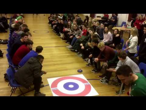 Bungay Sixth Form students take part in an end of term Kurling competition.