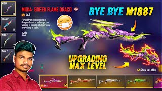😱ஒரு மாற்றம் Bye Bye M1887!! New Draco Flame M1014 Upgrade Tip and Tricks Tamil -Garena Free Fire