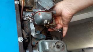 MOTEUR BERNARD W110 BIS mécanisme de ralenti et accélération