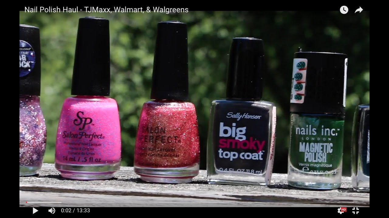 Nail Polish Haul - TJMaxx, Walmart, & Walgreens - YouTube