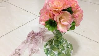 How To Make An Upcycled Plastic Bottle Vase - Diy Home Tutorial - Guidecentral