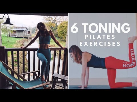 6 Total Body Toning Exercises | Lottie Murphy Pilates | 10 Minutes Abs, Legs, Butt