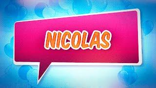 Joyeux anniversaire Nicolas