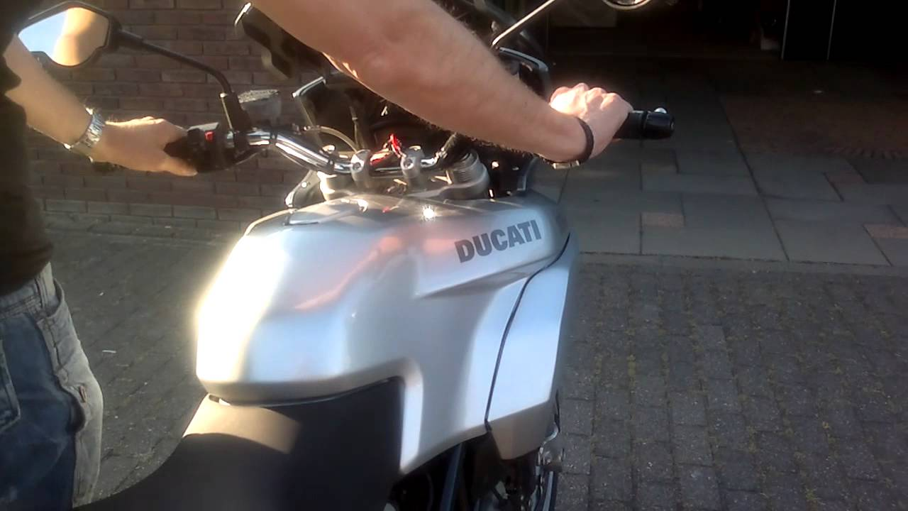 ducati multistrada 1000ds spark exhaust without db-killer - youtube