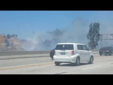 Fire in Canyon Country, California - 2017-06-25