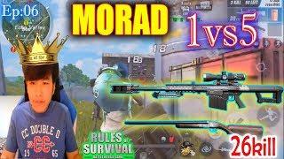!1vs5 Morad Gaming Best Shotgun Montage Kill , Rules Of Survival,Saxy ROS, Rules Of Videos
