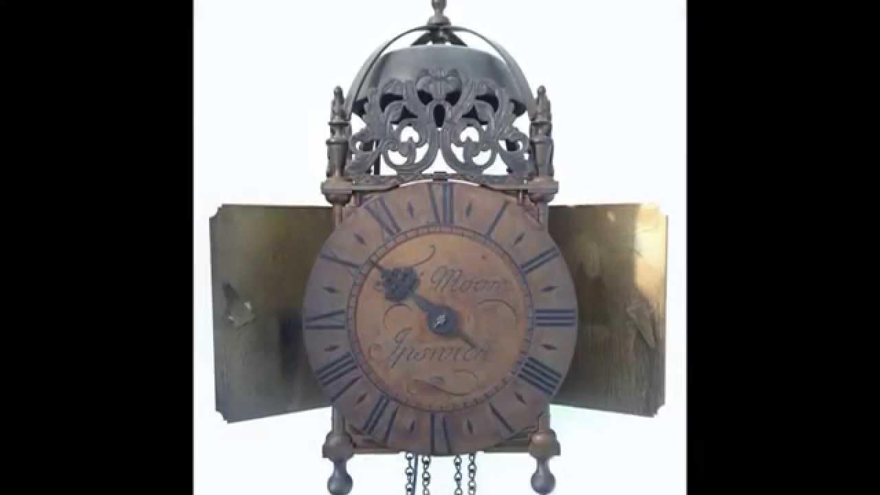 English lantern weight driven brass wall clock tho moore ipswich english lantern weight driven brass wall clock tho moore ipswich amipublicfo Images