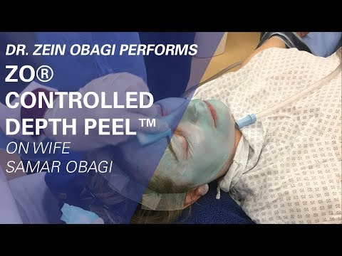 Dr. Zein Obagi Performs ZO® Controlled Depth Peel™ on Wife Samar Obagi at ZO Skin Centre
