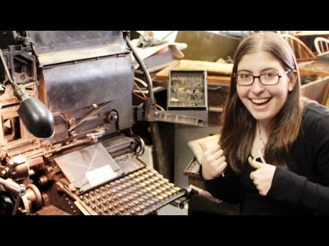 A Real, Working Linotype Machine