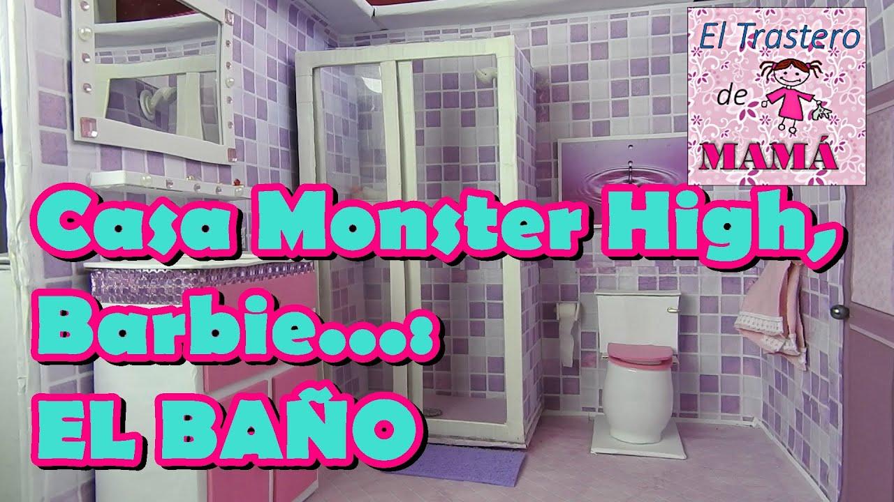 El baño de Casa Monster High, Barbie, Ever After High hecha con ...