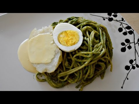 Tallarines Verdes Con Papa A La Huancaína | Cocina Típica Peruana