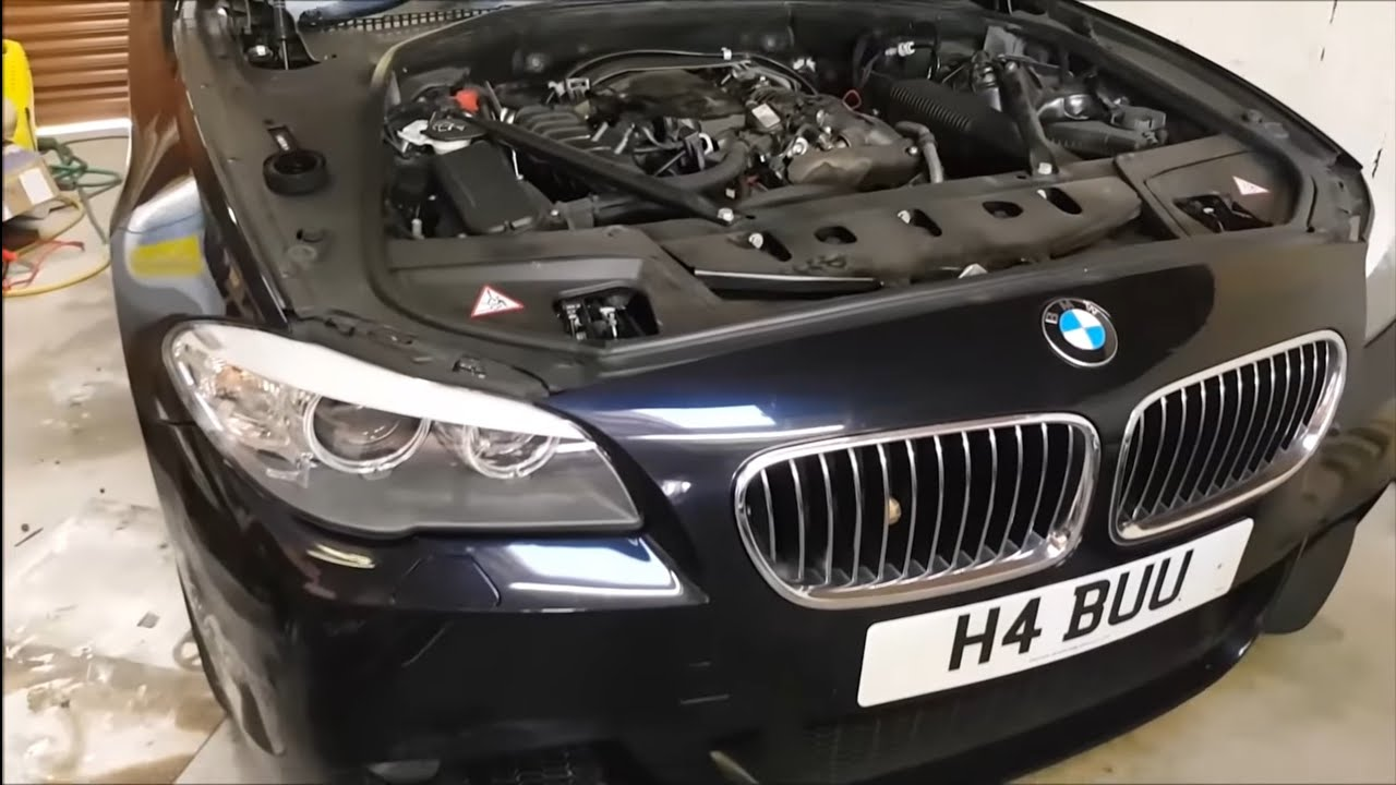 2007 Bmw Engine Diagram Bmw F10 520d Engine Oil Change Complete How To Youtube