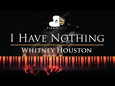 Whitney Houston - I Have Nothing - Piano Karaoke  Sing Along Cover with