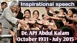 Dr. APJ Abdul Kalam Birthday Special   APJ Kalam's Inspirational Speech   Legendary Speech