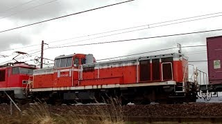 EF510-5+DE10 3505(ムド回送) 3097レ 信越本線下り