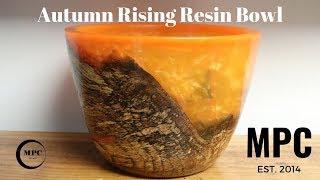 Autumn Rising Resin Bowl