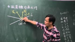 平面向量-兩直線夾角角度的求法說明