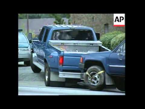 USA: ATLANTA: FBI RETURN RICHARD JEWELL'S PICK UP TRUCK