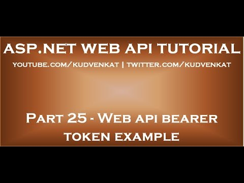 Web api bearer token example