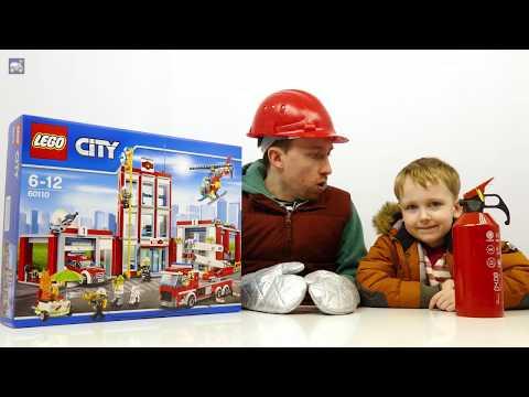 🔥 Тушим Пожар в парке Лего пожарный Участок в Реальной жизни Лучшая тренировка для Картонка