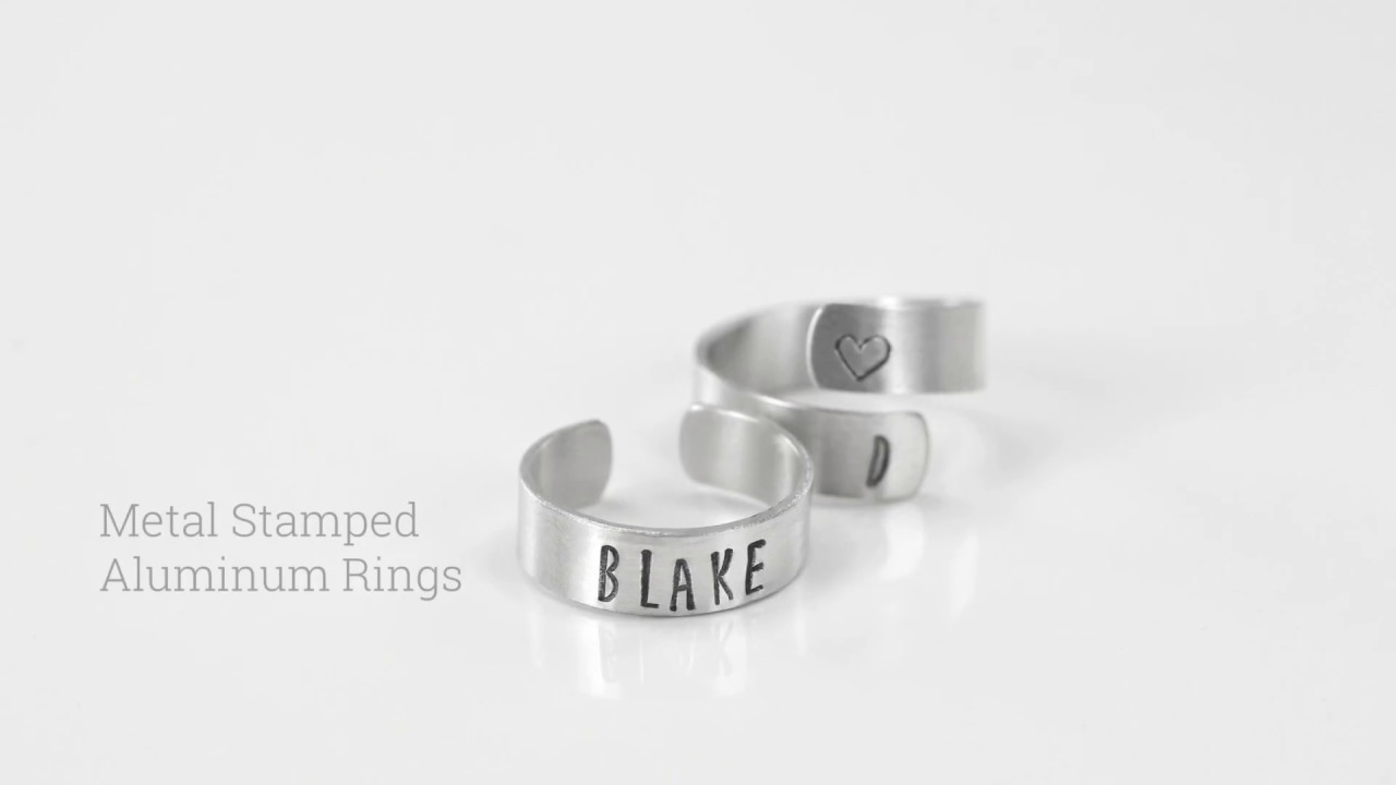 How To Make Personalised Rings With Metal Stamping