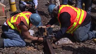 GOVERNOR CUOMO DEMONSTRATES TRACK IMPROVEMENT WORK AS PART OF SUBWAY ACTION PLAN