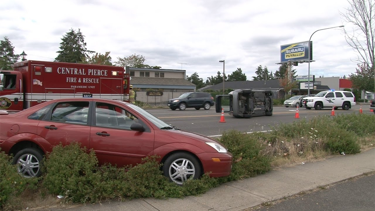 Two Car Rollover Accident 14700 Block Pacific Ave South Spanaway WA
