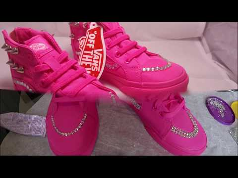 DIY BLING PINK VANS- HOW TO ADD RHINESTONES TO YOUR SHOES