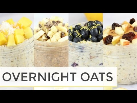 how-to-make-overnight-oats-|-4-easy-healthy-recipes