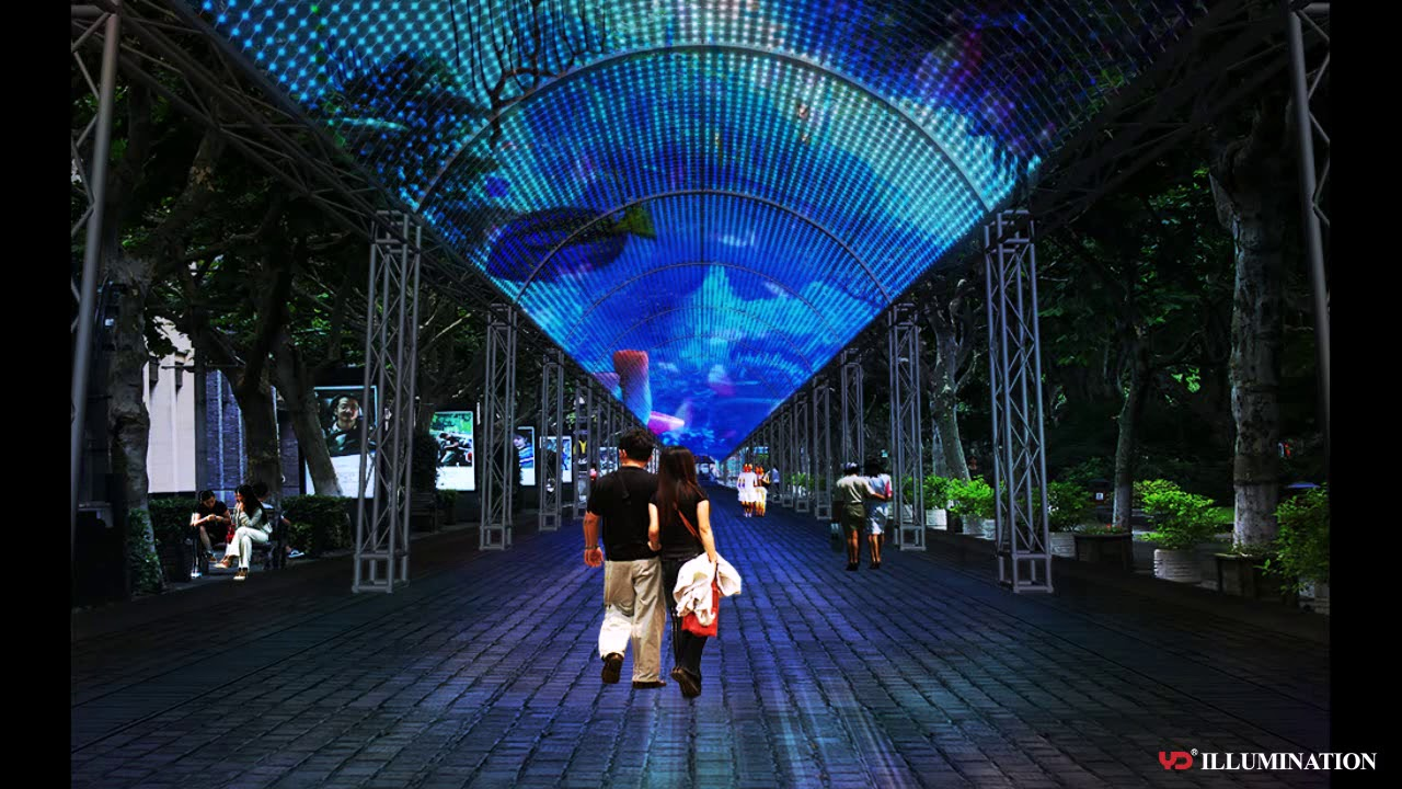 Amazing Rgb Pixel Led Light Tunnel Lighting Design Referrence