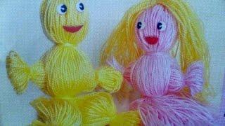 Как сделать куклы из ниток(Смешные и добрые куклы из ниток вызовут у малышей неподдельный восторг, а процесс их изготовления развлече..., 2016-01-23T17:15:02.000Z)